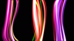 Color motion graphic streaks animating Stock Footage