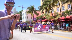 MIAMI BEACH, FLORIDA, APR 2016: The 8th Annual Miami Beach Gay Pride Parade Stock Footage