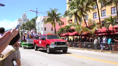 MIAMI BEACH, FLORIDA, APR 2016: The 8th Annual Miami Beach Gay Pride Parade Stock Footage