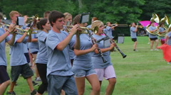 Marching Band Formation Stock Footage