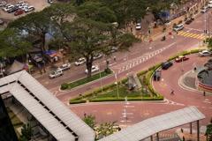 Timelapse of Street Traffic In Kuala Lumpur Brickfields Area Stock Footage
