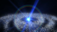 Galaxy andromeda abstract Stock Footage