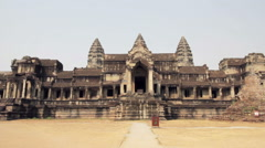Angkor Wat East Entrance, No People Stock Footage