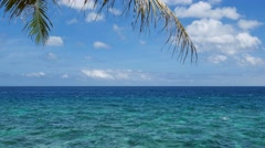UHD shot of the peaceful tropical sea with a lot of useful copy-space Stock Footage