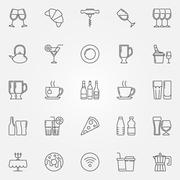 Cafe and bar icons Piirros