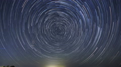 Time Lapse Startrails Circle Around Polaris North Star Stock Footage