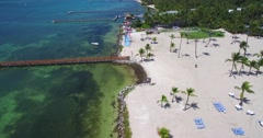 Aerial 4k view of tropical paradise Island, Islamorada, Florida Keys Stock Footage