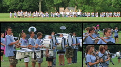 Marching Band Composite Stock Footage