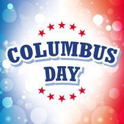 Columbus Day USA banner on celebration background Stock Illustration