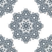 Seamless background, east ornament. Vector illustration Stock Illustration
