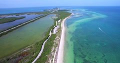 Bahia Honda state park, Key West, Florida Stock Footage
