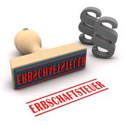 Stamp Paragraphs Erbschaftsteuer Stock Illustration