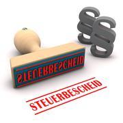 Stamp Steuerbescheid Stock Illustration