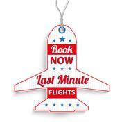 Et Price Sticker Last Minute Book Now Stock Illustration