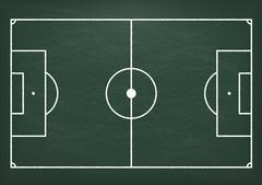 Football Ground Green Blackboard Piirros