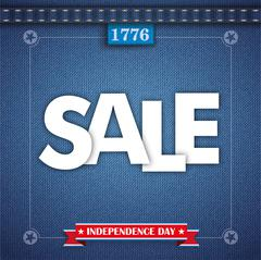Jeans Vintage Independence Day Frame Sale Stock Illustration