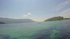 Island of St. Nicolas. Montenegro Stock Footage