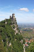 San Marino fortress Rocca della Guaita Italy - stock photo