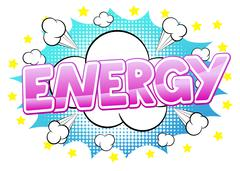Comic sound effect energy Stock Illustration