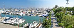 Alcudia port panorama, Majorca Stock Photos
