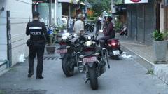 Hua Hin Bombing Crime Scene Police Stock Footage