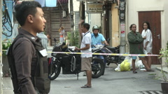 Hua Hin Bombing On Lookers  Stock Footage