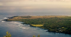 A high angle view looking down on Molokai from far above. Stock Footage