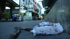 Hua Hin Bombing Bloody Tissue Stock Footage