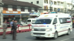 Hua Hin Bombing Ambulance Stock Footage