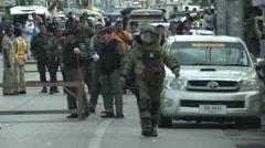 Hua Hin Bombing Bomb Squad Stock Footage