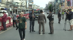 Hua Hin Bombing Police Stock Footage