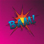Colourful comic book style explosion vector effect Stock Illustration