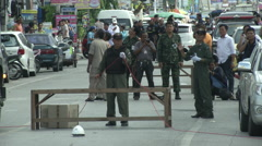 Hua Hin Bombing Crime Scene Stock Footage