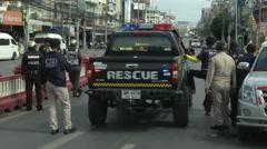 Hua Hin Bombing Emergency Responders Stock Footage