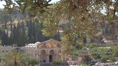 Church of All Nations located on the Mount of Olives, Israel Stock Footage