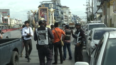Hua Hin Bombing Police and Journalists Stock Footage