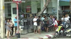 Hua Hin Bombing Onlookers Stock Footage