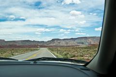 Driving through in Utah North America Stock Photos