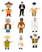 People to nationality miscellaneous Stock Illustration