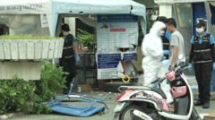 Hua Hin Bombing Crime Scene Investigation Stock Footage