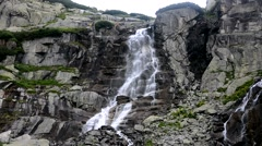 Waterfall, High Tatras in Slovakia Stock Footage