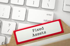 Card File with Fixed Assets Stock Illustration