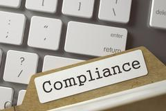 Sort Index Card with Compliance Stock Illustration