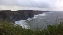 Ireland Cliffs of Moher Wide Stock Footage