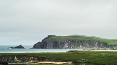 Dingle Peninsula, time lapse of the last location of star wars movie Stock Footage