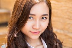 Portrait of Smiling Asian Businesswoman - stock photo