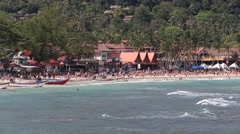 Haad Rin beach before the New Year celebrations. Island Koh Phangan, Thailand Stock Footage
