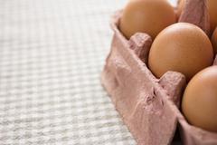 Fresh organic eggs Stock Photos