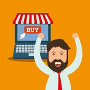 Online payment shopping ecommerce Piirros