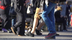 A lot of people on the streets of a big city at rush hour. Time Lapse. Stock Footage
